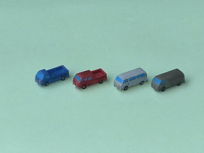 VW Bus Type 2 1/285 6mm in Smooth Fine Detail Plastic