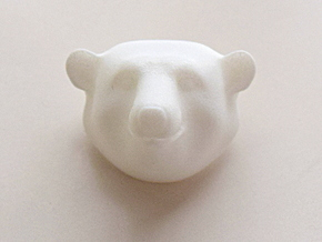 Polar Bear  in White Processed Versatile Plastic