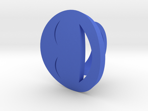 Smile Ring Size 9, 19.0 mm in Blue Processed Versatile Plastic