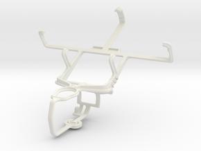 Controller mount for PS3 & Gigabyte GSmart G1345 in White Natural Versatile Plastic