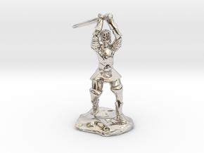 Human Paladin Zealot of Pelor With Longsword in Platinum