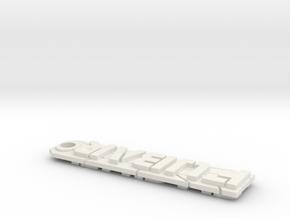 FUBAR for 7 Trit Tag in White Natural Versatile Plastic