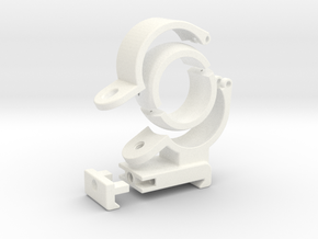 Spherical Bearing Riflescope Mount with 30mm Ring in White Strong & Flexible Polished