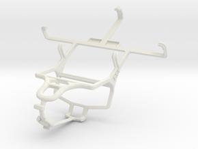 Controller mount for PS4 & Gigabyte GSmart Rio R1 in White Natural Versatile Plastic
