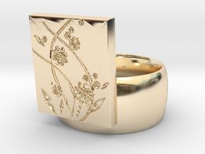 Flower  Ring Version 2 in 14K Yellow Gold