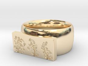 Flower  Ring Version 4 in 14K Yellow Gold
