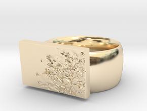 Flower  Ring Version 7 in 14K Yellow Gold