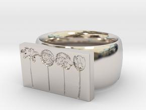 Flower Ring Version 9 in Platinum