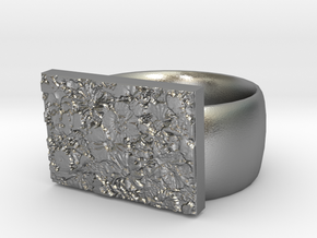 Flowers Ring Version 10 in Natural Silver