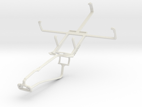 Controller mount for Xbox One Chat & HTC Advantage in White Natural Versatile Plastic