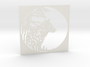 Grey Wolf in White Natural Versatile Plastic