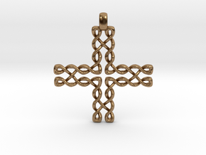 CELTIC CROSS Jewelry Pendant in Bronze   Brass   S in Natural Brass