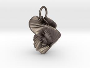 Ornament in Polished Bronzed Silver Steel