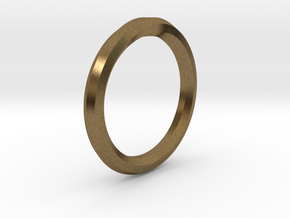 Heptagon Ring in Natural Bronze