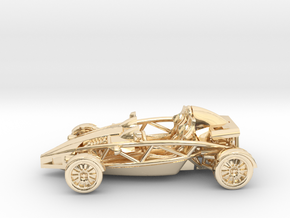 "Atom HO scale model w/o wings 1.6"" LHD in 14K Gold"