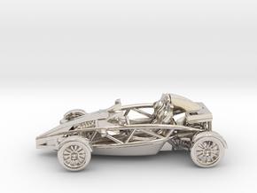 "Atom HO scale model w/o wings 1.6"" LHD in Platinum"