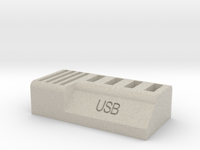 Usb and Sd card holder in Natural Sandstone