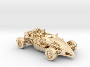 """Atom HO scale model w/o wings 1.6"""" RHD in 14K Yellow Gold"""
