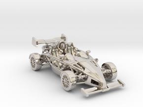 """Atom HO scale model w/wings 1.7"""" RHD in Platinum"""