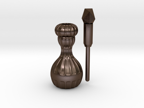 Perfume Bottle  in Polished Bronze Steel