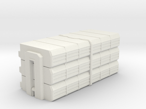 Barracks in White Natural Versatile Plastic