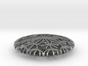 Dandelion seeds pendant in Natural Silver