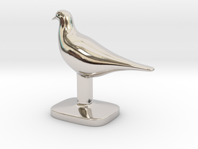 Pigeon Bird in Platinum