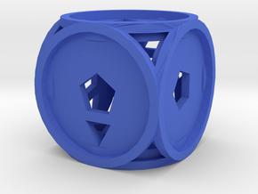 Dice153 in Blue Processed Versatile Plastic