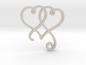 Linked Swirly Hearts (~4mm depth) in Natural Sandstone