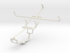 Controller mount for Xbox One & Karbonn A111 in White Natural Versatile Plastic