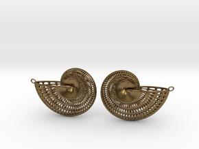 Nautilus Earring Pair (2 earrings) in Natural Bronze