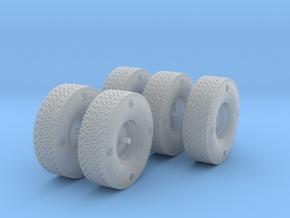 1/35 scale BFG wheel set MENG Hilux kit. in Frosted Ultra Detail
