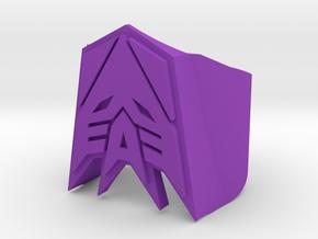 [Transformer] Decepticon-ring Size #6 in Purple Processed Versatile Plastic
