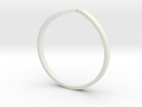 Ring Model B - Size 6 - Gold in White Natural Versatile Plastic