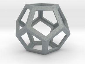 Dodecahedron in Polished Metallic Plastic