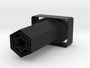 True Star Pencil Holder in Black Natural Versatile Plastic