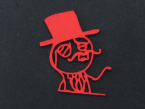 Like A Sir Charm  in Red Processed Versatile Plastic