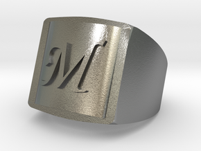 M Bikers Ring in Natural Silver