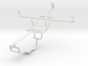 Controller mount for Xbox One & Kyocera Hydro Xtrm in White Natural Versatile Plastic