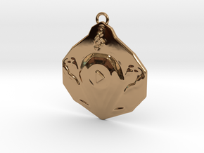 """""""Play"""" pendant 1-st edition, """"Player"""" jewelry coll in Polished Brass"""