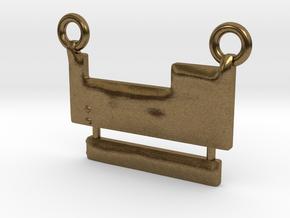 Periodic Table Pendant in Natural Bronze