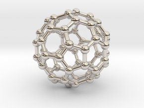Truncated Icosahedron (bucky ball) in Platinum