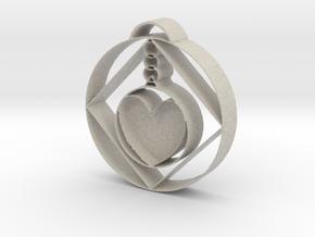 Love Alchemist Pendulum  in Natural Sandstone