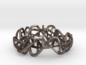 Miskundig/46/vlecht one (small) in Polished Bronzed Silver Steel