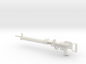 1/4th Lewis Machine Gun (without drum mag!) in White Natural Versatile Plastic