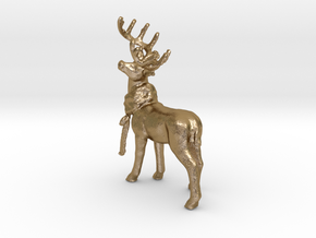 Dans Deer in Polished Gold Steel