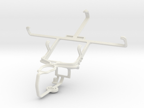Controller mount for PS3 & Lenovo A820 in White Natural Versatile Plastic
