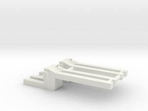 Saddle Tank Brackets 1/64 in White Natural Versatile Plastic