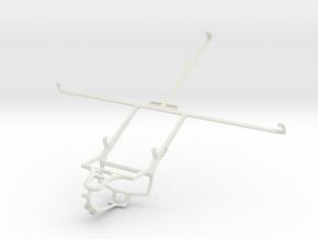 Controller mount for PS4 & Lenovo IdeaTab S6000 in White Natural Versatile Plastic