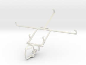 Controller mount for PS3 & Lenovo IdeaTab A3000 in White Natural Versatile Plastic
